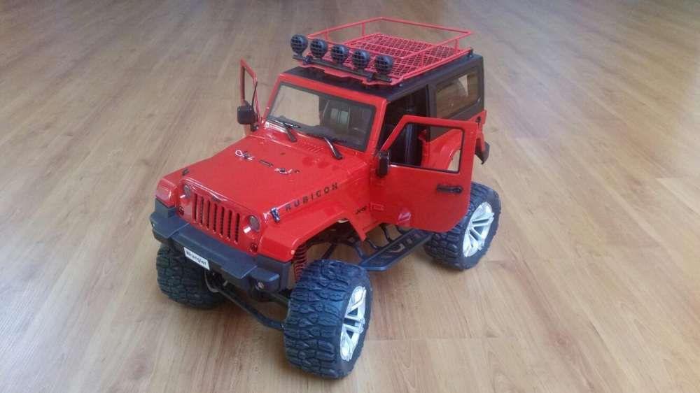 Carro telecomandado RC HG P405 Jipe Wrangler Rubicon Crawler LiPo