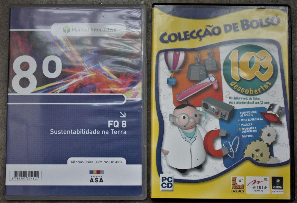 4 CDs didácticos com jogos, como novos