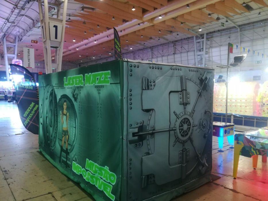 Laser Maze - divertimento com inspecção feita