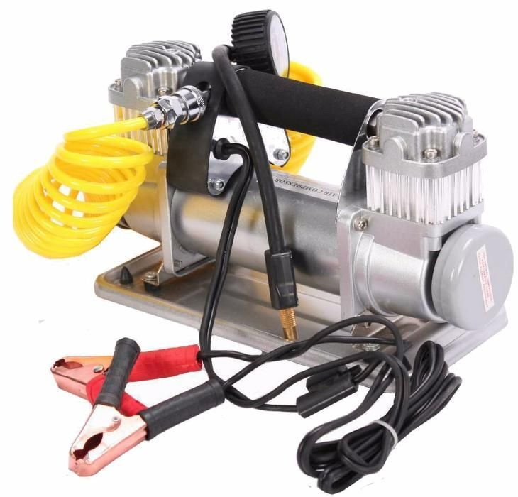 Compressor de ar portátil 12V p/ bateria carro, camião ou tractor
