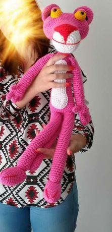 Pantera Cor De Rosa Amigurumi - R$ 138,00 em Mercado Livre | 460x222