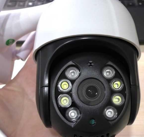 поворотная камера ip wifi 5mp уличная камера видеонаблюдения с sd
