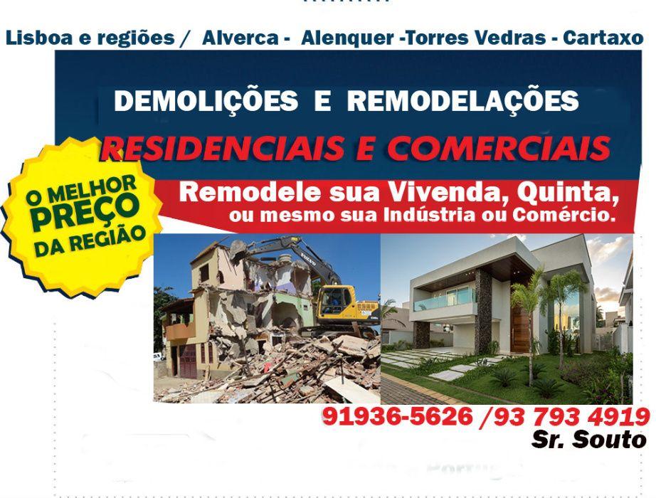 DEMOLIÇÕES, LIMPEZA TERRENO, Recolha Entulhos, Coloc. Papel de Parede