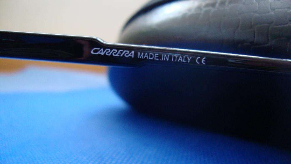 91c83d14b1500 Óculos Carrera Champion preto brilhante com risca Branca Amadora - imagem 4