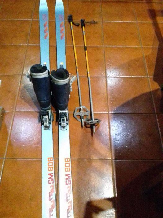 skis de neve elan sm 808 + botas + batons