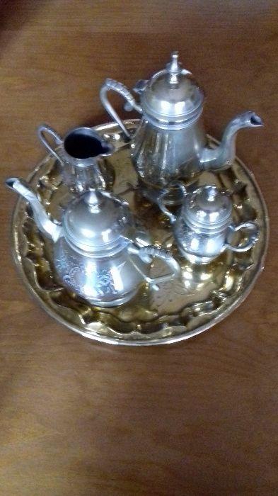 Serviço de chá e café em casquinha