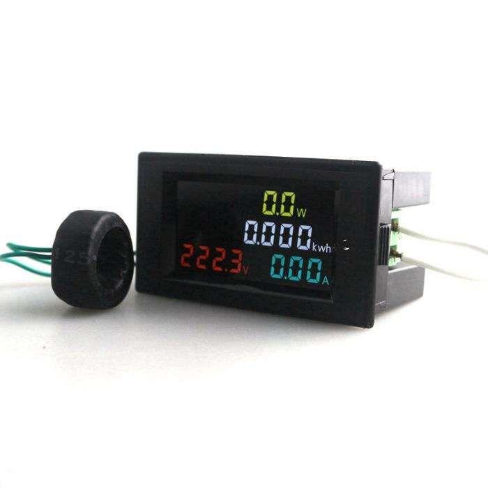Volt/Amp/Watts/ KW/h_de Painel_Display (4 em 1)_230V/100A (novidade)
