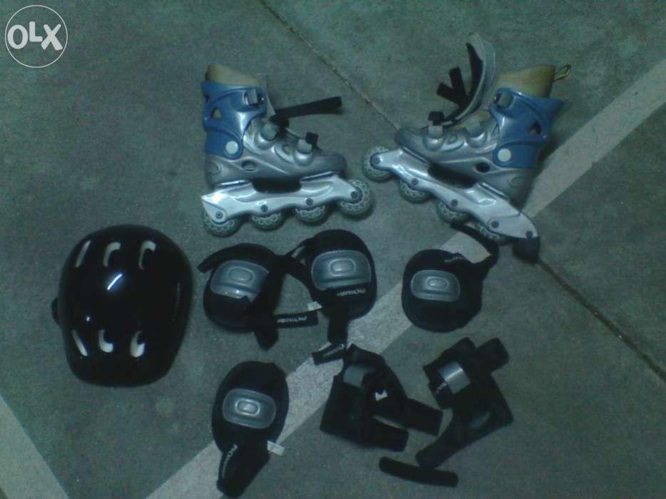 Conjunto de patins em linha