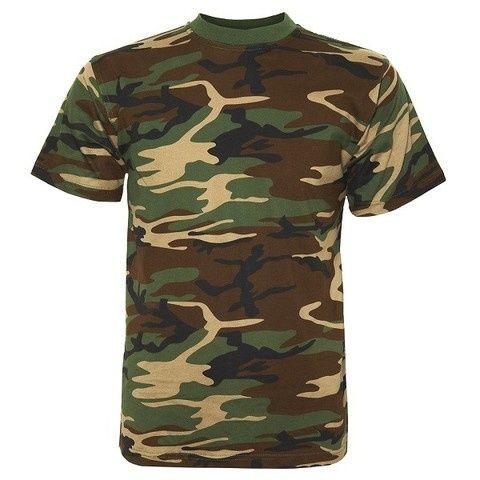 631a38243f00d T-Shirt Fostee Camuflada -Cor Camuflagem Militar -Nova