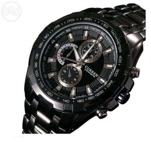 3903ae4b869 Relógio Curren para Homem Preto e Prateado (NOVO).