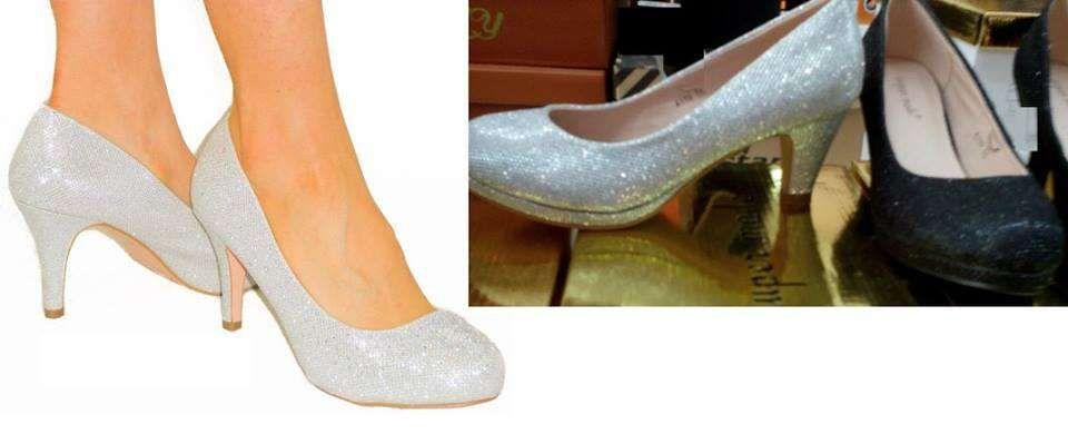 Sapatos pupurinas salto medio baixo novos de noiva ou