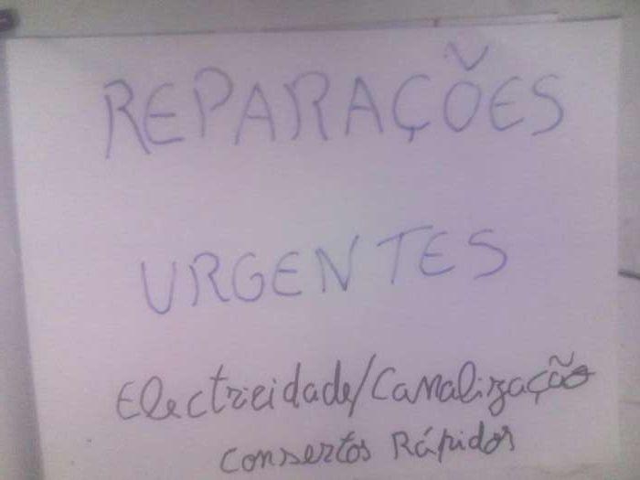 Reparações urgentes diversos