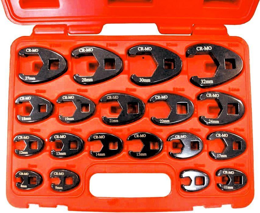 """Kit Chaves """"Pé de Galo"""" 8 a 32mm - 19pc"""