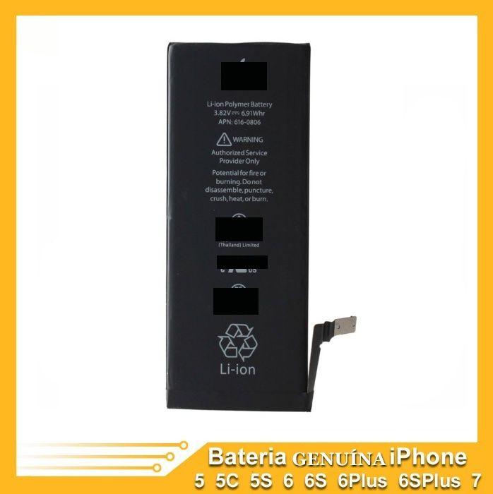 Bateria P/ IPhone 5/5c/5s/SE/6/6S/6plus/7/7plus Original com Garantia