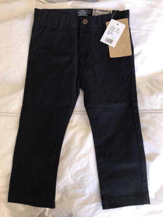 Calças sarja azuis escuras, mayoral, 24 meses