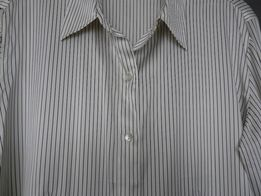 Bluzka 100% jedwab naturalny silk koszula ecru M rozpinana  LxmHG