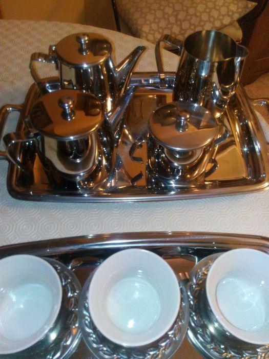 24 peças inox serviço café/chá