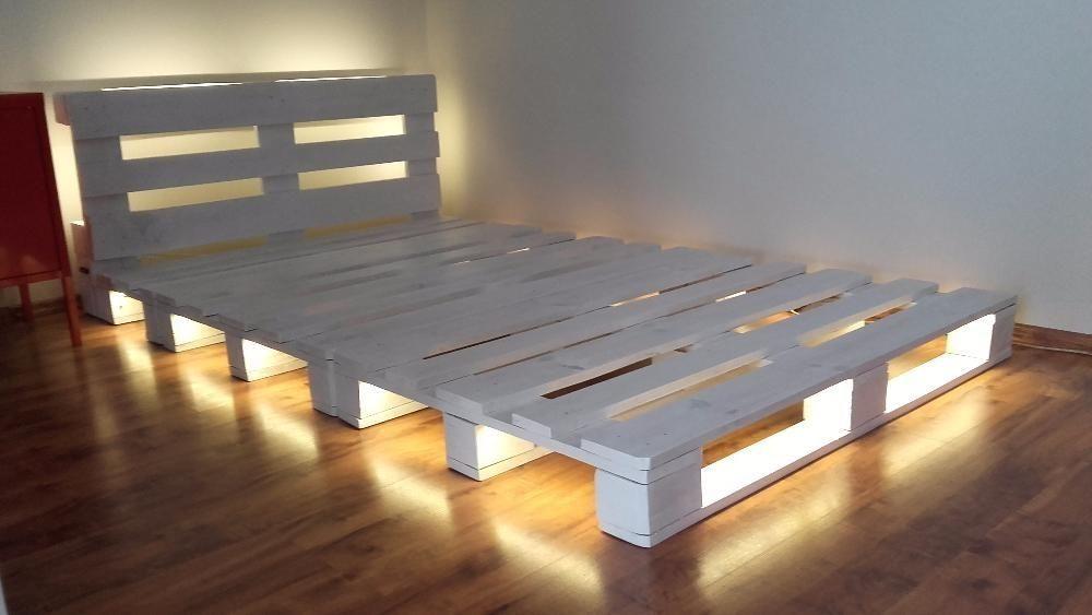 Łóżko z palet Lubochnia • OLX.pl