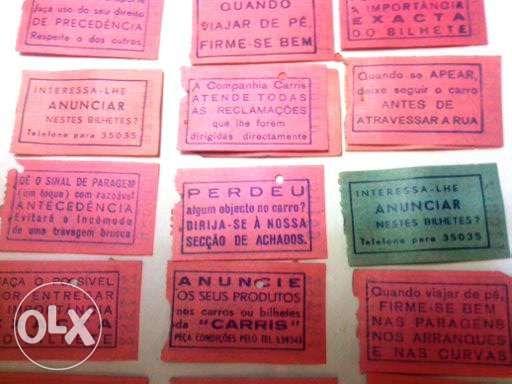 Bilhetes de transporte Antigos CP, LT, CFL, Carris