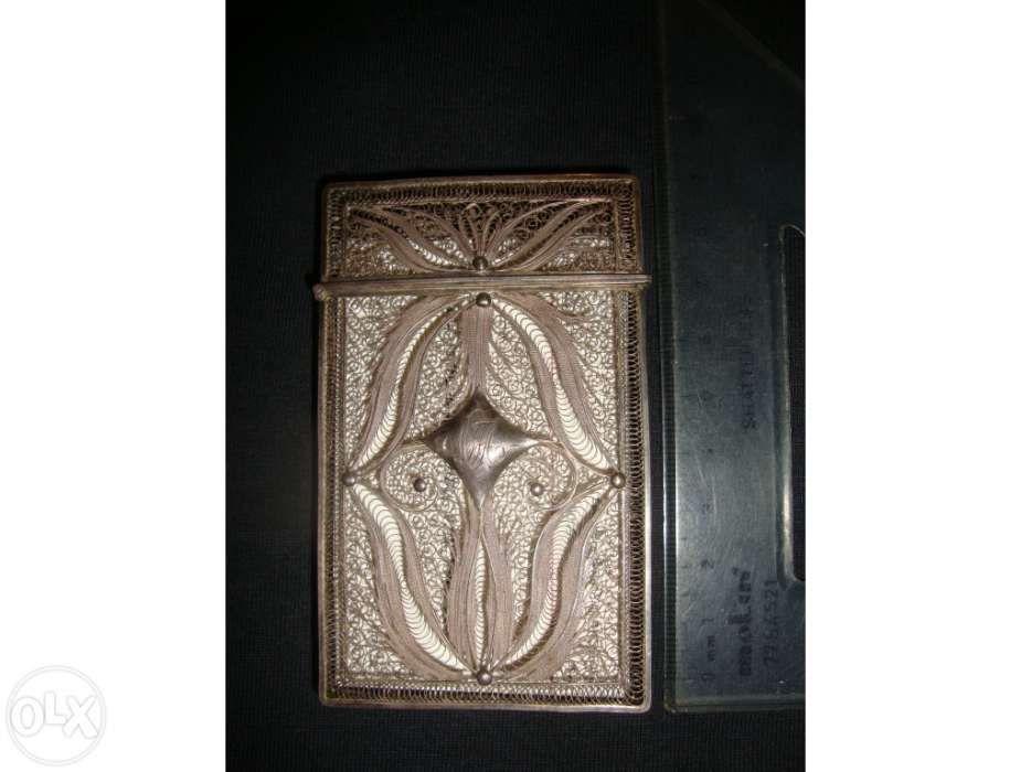 Porta cartões de visita em prata filigrana