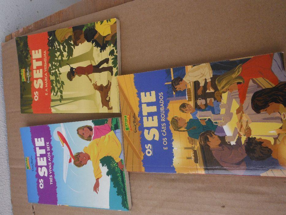 3 livros das Aventuras dos SETE