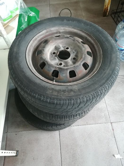 Vendo jantes 14 ferro+ pneus