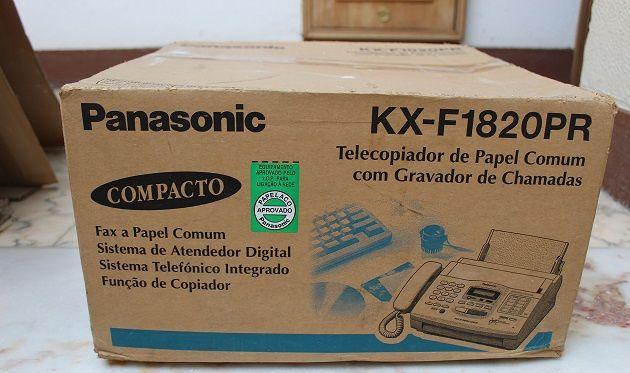 Fax Panasonic Compacto KX - F1820PR e fotocopiadora em papel comum