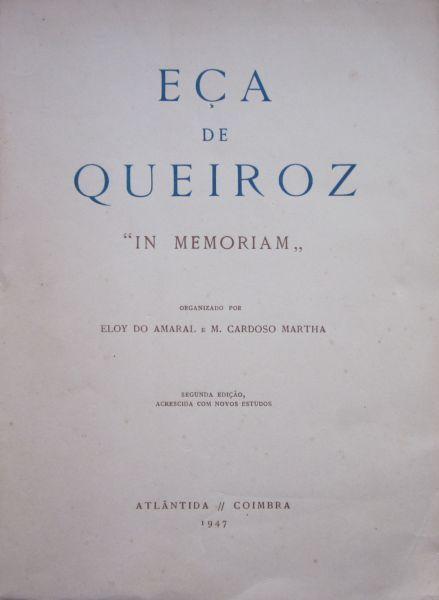 """Eça de Queiroz - """"IN MEMORIAM"""""""