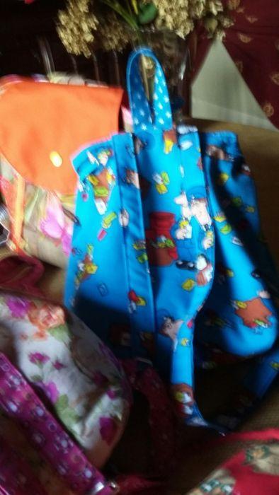 Mochilas para crianças, em tecido, artesanais Loures • OLX