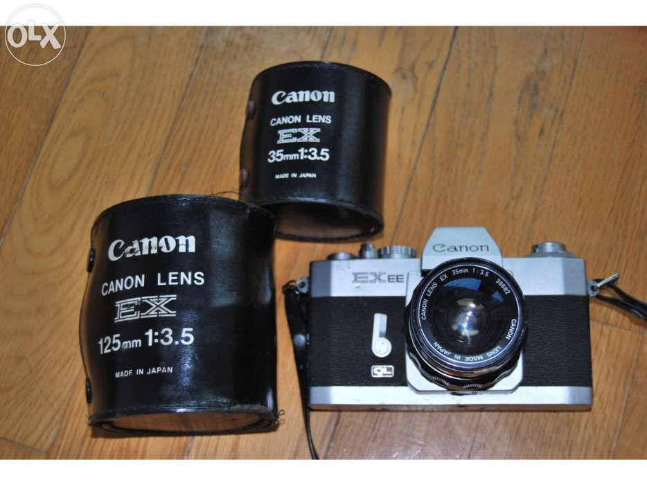 Canon EX EE clássica com 2 objectivas