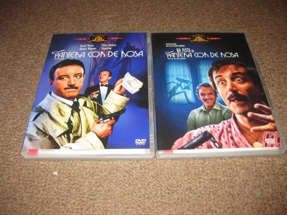 """2 DVDs saga """"A Pantera Cor de Rosa"""" com Peter Sellers"""