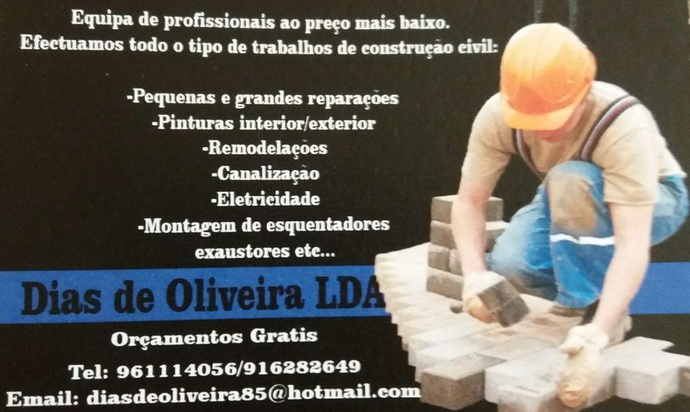 Construção civil, reparações e limpezas