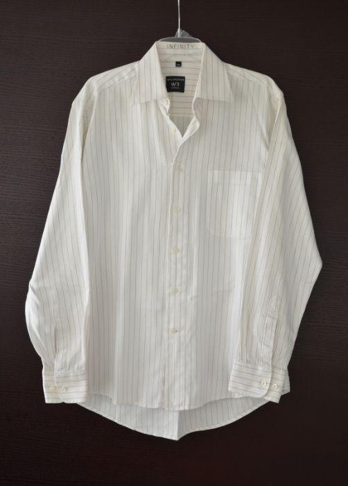 Willsoor elegancka ciepła koszula męska biała garniturowa  vQpNF