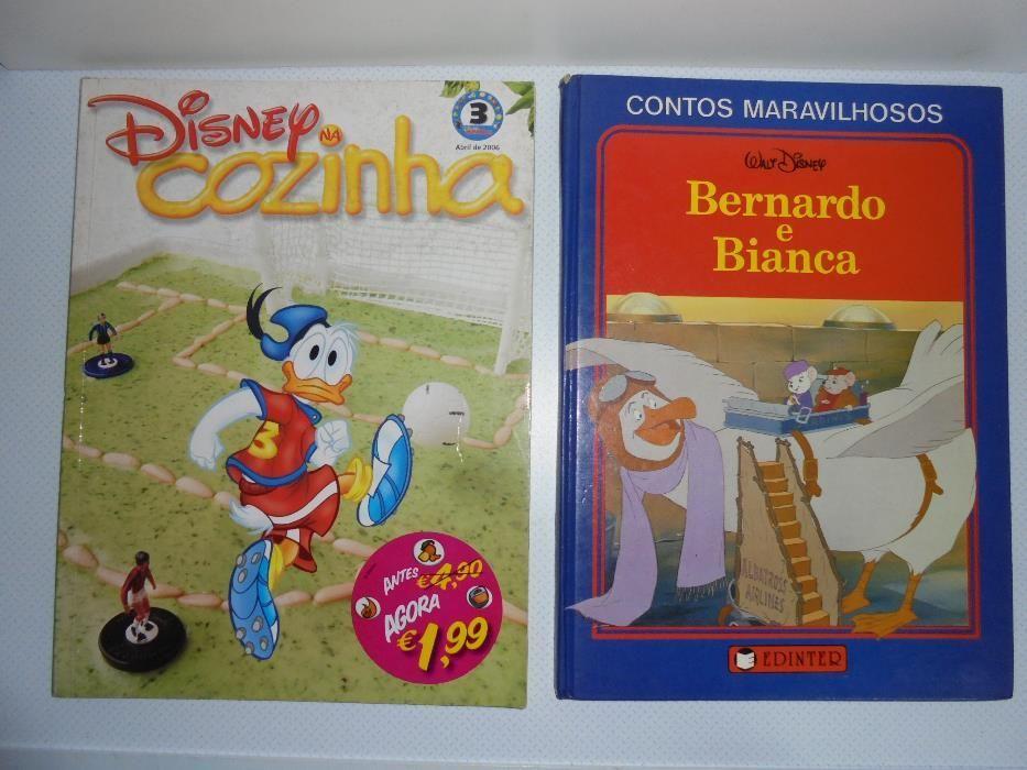 Livros Disney Bernardo e Bianca / Pato Donald na cozinha