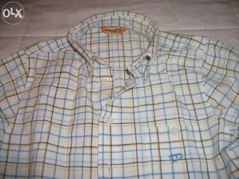 Camisa original Mayoral flanela 7 anos .manga comprida.