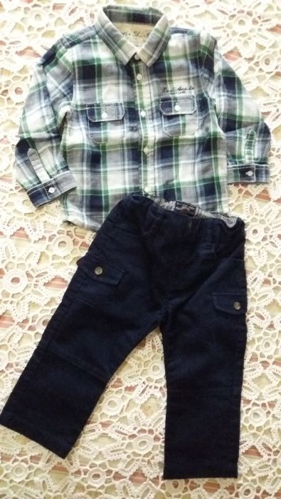 Calça e Camisa da Mayoral, tamanho 12 meses