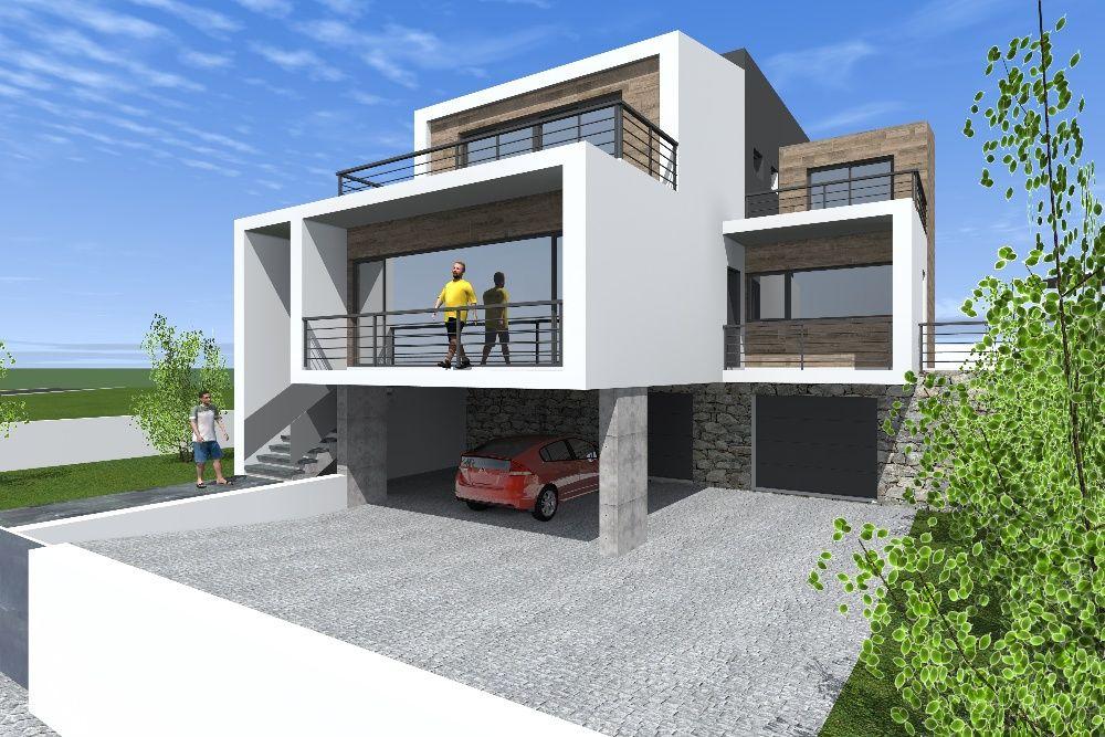 Modelação 3d de edifícios e espaços interiores.