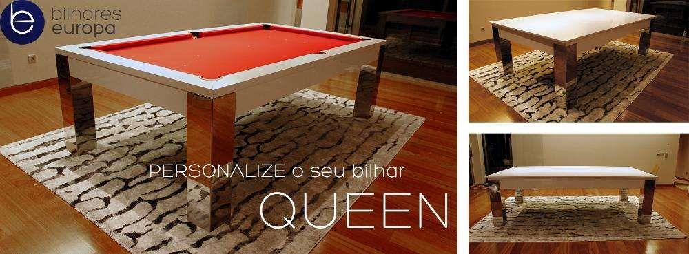 Bilhar mod Queen luxury Bilhares Europa oferta tampo jantar PME Lider