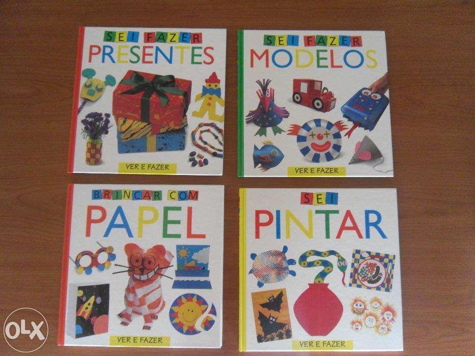 Coleção de 8 livros de manualidades