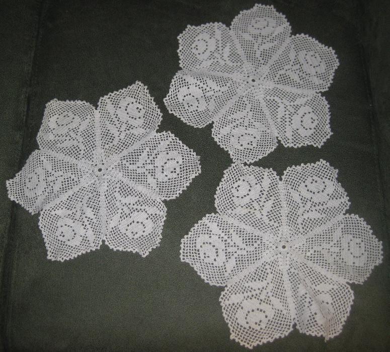 Diversos Conjuntos de 3 Panos de Crochet Novos Juntos ou Separados