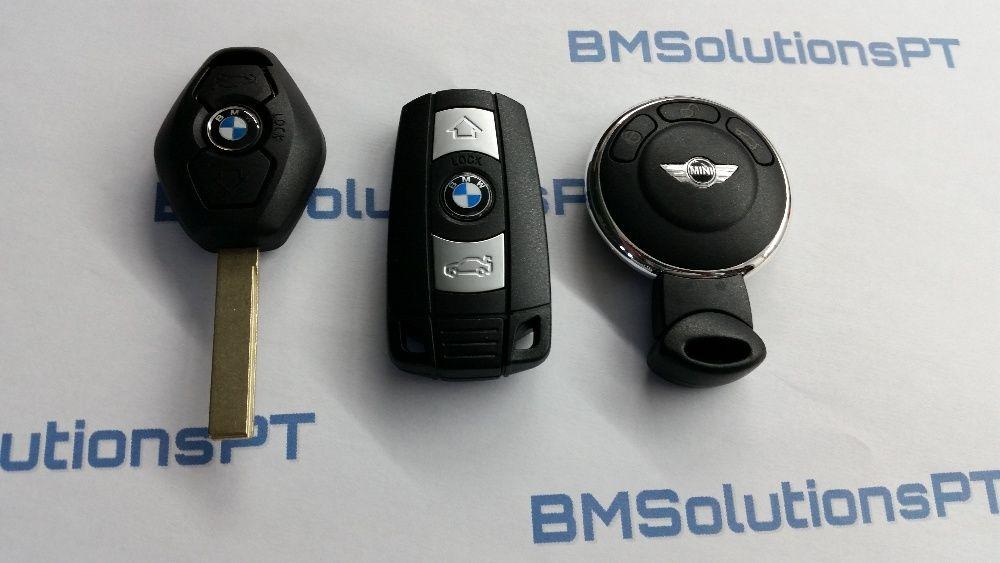 Chaves BMW MINI Smartkey Programadas CAS E60 E61 E87 E88 E90 E91 E92