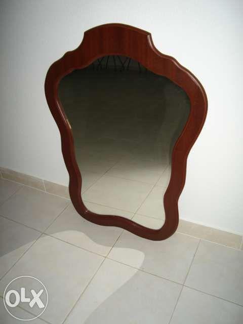 Espelho para quarto (moldura em madeira)