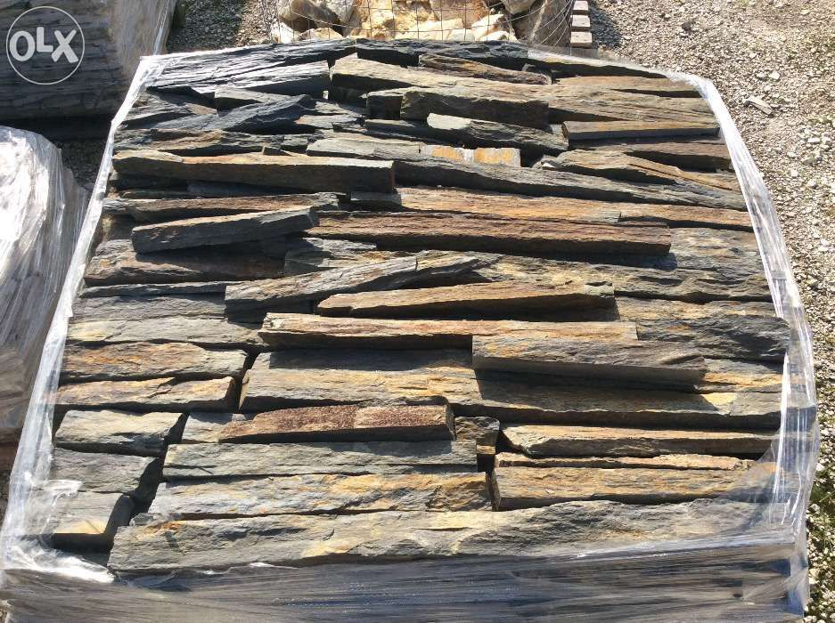 Tiras xisto sobrepor pedra rustica Alcobaça - imagem 1