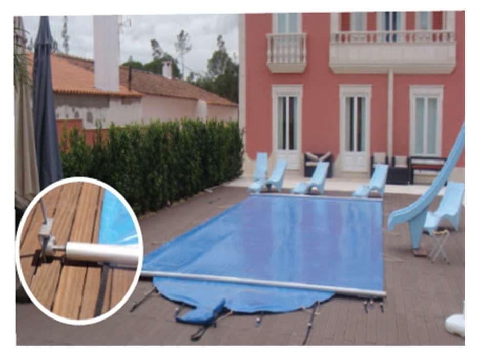 cobertura de segurança de piscina com 50% desconto cascais piscinas