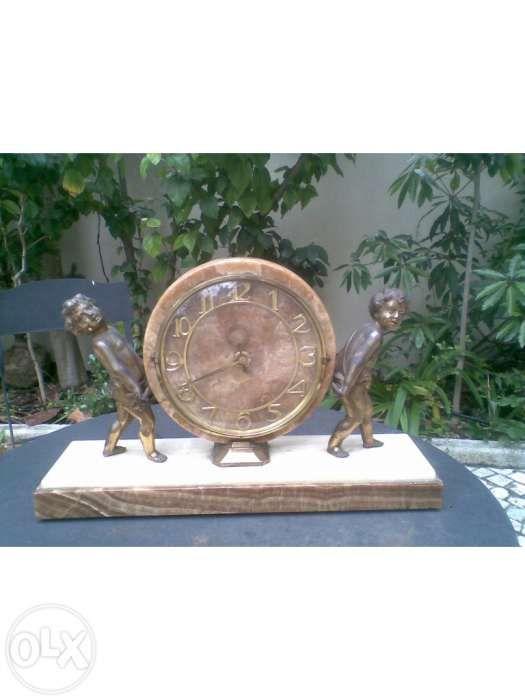 0db92b51216 Lindo relógio - Art Deco - Pau santo e prata - Montijo - Relógio Art Deco