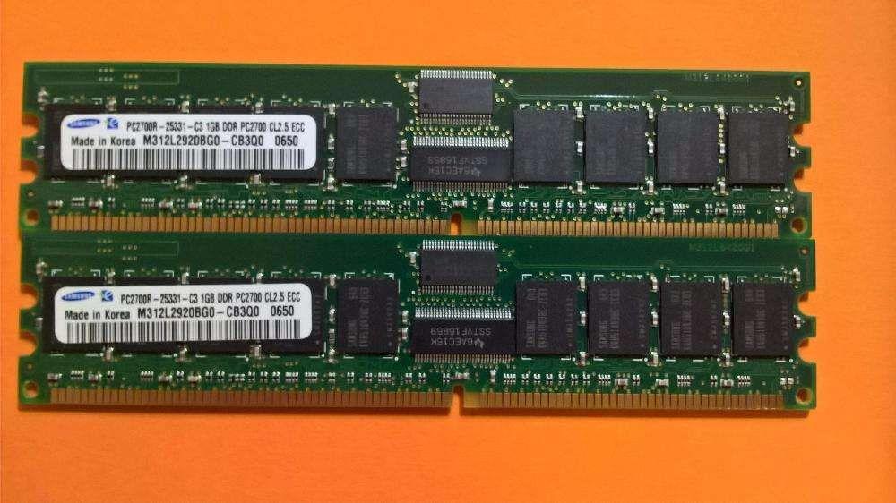 2X Samsung 1GB 1Rx4 PC2700R-25331-C3- CL2.5 DDR (333Mhz) –Valor( 2 ) Amadora - imagem 2