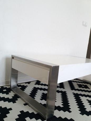 Szare krzesła chromowane nogi Warszawa Mokotów • OLX.pl