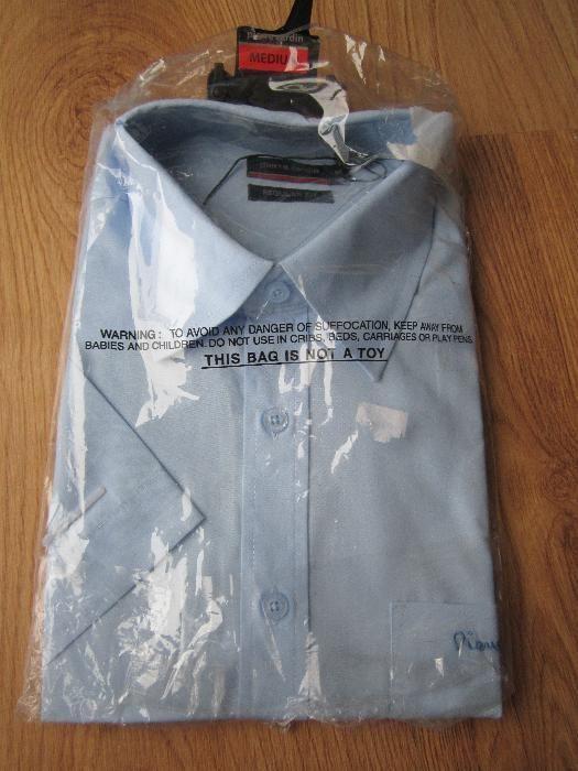 Koszula męska Pierre Cardin, krótki rękaw, rozmiar M, nowa