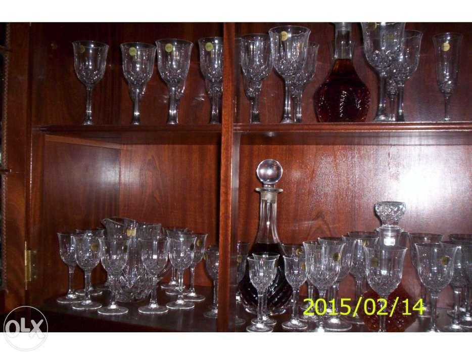 Conjunto completo copos de cristal 66 peças