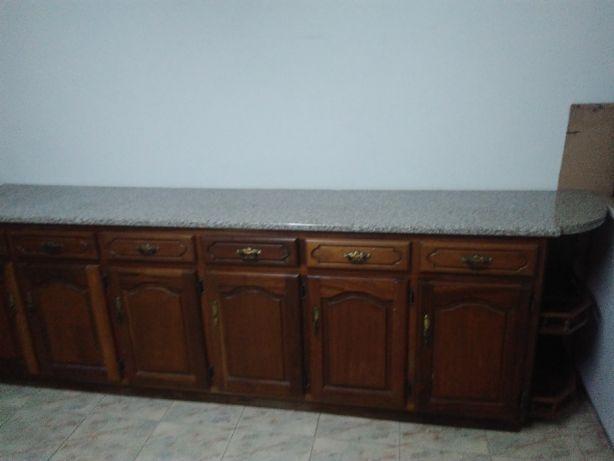 Balcão de cozinha madeira maciça mogno